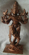 HINDU RELIGIOUS GOD OF LOVE LORD KRISHNA COPPER METAL HAND CRAFTED STATUE FIGURE