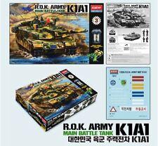 Academy 1/35 ROK Army MBT K1A1 Motorized Tank Armor Plastic Model Kit Gift 13222