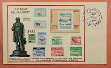 1980 PARAGUAY FDC ZEPPELIN SIR ROWLAND HILL S/S