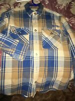 Cabela's Size M Plaid Heavy Flannel Long Sleeve Shirt