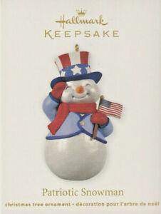 HALLMARK Keepsake Christmas Tree Ornament 2012 Patriotic Snowman - New With Box