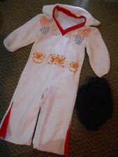 Old or Vintage Child's Kids Toddler Elvis Costume & Wig Halloween Party Play