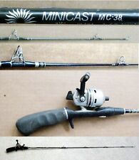 "Vintage 1-Piece 4' 6"" Daiwa Ultralight Minicast MC38 Spin Cast Combo"