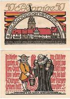 Germany 50 Pfennig 1921 Notgeld Schoppenstedt AU-UNC Banknote - UK Seller