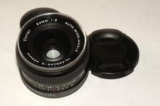 Fast REAR MC Vivitar 24 mm F/2.0 Lens for Pentax Adaptable for Canon