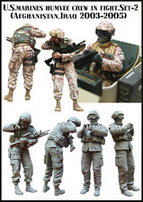 Evolution Miniatures 1:35 U.S Marines Humvee Crew in Fight Set2 Afghan #EM-35063