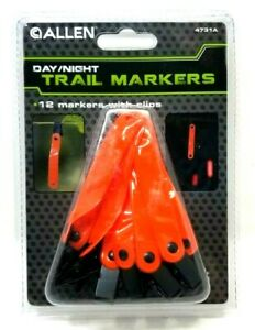 Night & Day Trail Markers w/ Clips  Pack of 12  Visible Day and Night NOS (F2)