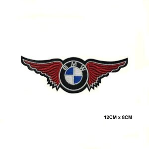 BMW Wings Motor Car Racing Brand Patch Embroidered Iron On Sew On Patch Badge