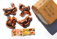 VTG Copper Color ALUMINUM JELLO MOLDS ROYAL DESERT Set of 4 ~ BRAND NEW w/ BOX