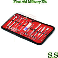12 Pc Instrument Surgical Kit Survival Emergency First Aid Military Case DS-1225