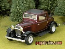 DieCast Burgundy 1932 Ford 3 Window Coupe G Scale 1:34 By Kinsmart 32 Ford Coupe
