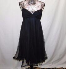 Betsey Johnson Evening Black Pleated Spaghetti Strap Dress....6