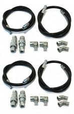 (2) New ANGLE HOSE Replacement KITS Western 55021 Hoses Quick Couplers Fittings