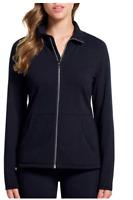 Skechers Womens Co BLACK Snuggle Fleece Full Zip Mock Neck Jacket Pic Sz 1325241