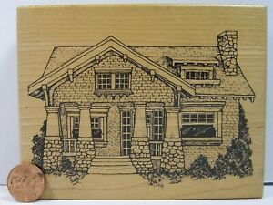 """Rubber Stamp PSX HC-1947 1996 Heirloom Collection Litd House 4-3/4X3-3/4""""   BC5"""