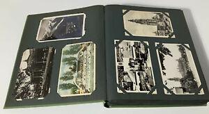 LARGE VINTAGE POSTCARD ALBUM - 267 CARDS - 1950's - PLACES - ANIMALS ETC