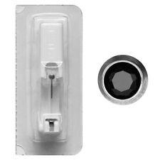 Erstohrstecker Titan mit Rundfassung in schwarz Studex Ohrring