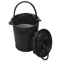 Tough 1 black collapsible water bucket horse tack 72-1819
