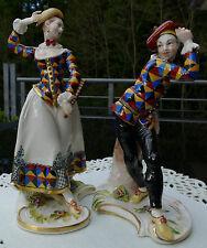Nymphenburg Figurenpaar Harlekin & Harlekine , handbemalt  , sammelwürdig ,Top !