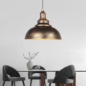Lámpara techo bronce retro industrial para comedor sala de estar hogar luz 220V