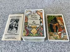 1980'S TAROT CARD DECK VINTAGE MARY  HANSON ROBERTS  LOVELY 1984 + BOOKLET