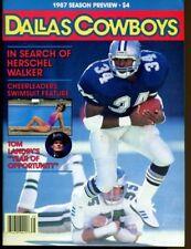 1987 Dallas Cowboys Season Outlook  Preview Magazine Herschel Walker 40398 B4