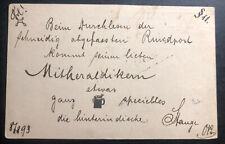 1893 Singapore Straits Settlements Stationery Postcard cover To Switzerland