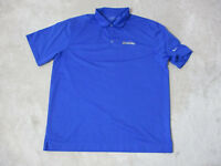 NIKE Miami Marlins Polo Shirt Adult Extra Large Blue MLB Baseball Dri Fit Mens