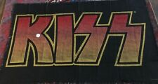 Kiss Sunburst Logo Throw Blanket 75x48