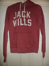 Ladies Jack Wills Red Hoodie UK Size 8
