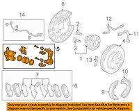 HONDA OEM Rear-Brake Disc Caliper 43018TA0A81