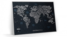 NEW BLACK SCRATCH OFF TRAVEL MAP LETTERS WORLD MAP PUSH PIN POSTER SCRATCH CARD