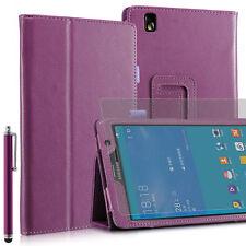 Custodia per Samsung Galaxy Tab Pro (T320) - 8,4'' - Viola + Pennino + Pellicola