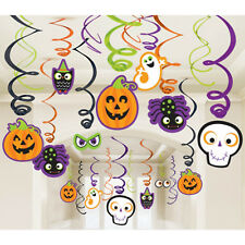 30Halloween Party Pumpkin Ghosts Mega Value Pack Hanging Swirl Decorations