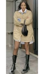 Zara beige camel Water Repellent Padded puffer Shacket coat Jacket S m l