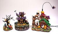 Halloween Haunted Tree House Village Light Up Witch Decor Figure Decoration