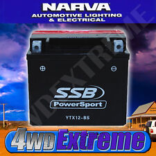 SSB MOTORCYCLE BATTERY HIGH PERFORMANCE MAINTENANCE FREE HONDA YAMAHA YTX12-BS