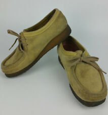 Clarks Originals Wallabee Womens 9 M Tan/Sand Comfort Shoes Suede Leather 35395