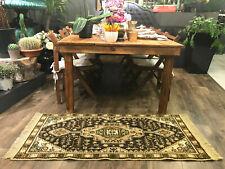 VINTAGE Turkish Carpet with Medallion Design - Turkish Boho Rug - Hallway Rug