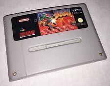 Doom-SNES SUPER NINTENDO Game-Pal un UKV Version-très RARE à obtenir
