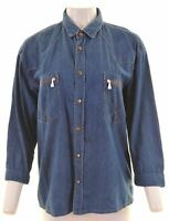 ROY ROGERS Womens Denim Shirt Size 16 Large Blue  MI14