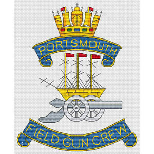 Portsmouth Field Gun Crew Cross Stitch Design (kit or chart)