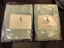 Pottery Barn Kids Sabrina Set of 2 Medium Basket Liner Green Gingham