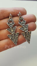 HOUSE OF HARLOW 1960 2-Way Pave Tribal Triangle Drop Earrings $88 - NWT