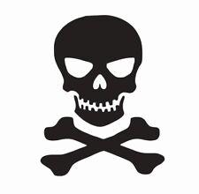 Skull and Crossbones Vinyl Die Cut Car Decal Sticker - FREE SHIPPING