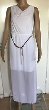 SIZE SMALL, UNBRANDED, OFF WHITE SLEEVELESS  DRESS, PRE-LOVED
