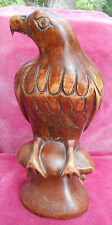 "WOOD HAND CARVED EAGLE BIRD PATRIOTIC FIGURINE 11"" HARD TO FIND VINTAGE"