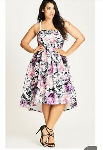 CITY CHIC • $179.95 NWT 'Gracie' Hi Lo Stunning Dress Strapless or w/Straps XL