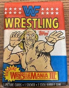 1987 Topps WWF Trading Cards One SEALED Pack - WWE WrestleMania III - Hulk Hogan