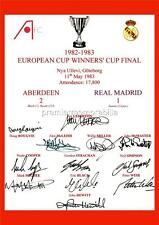 ABERDEEN FC 1983 EUROPEAN CUP WINNERS CUP FINAL SIGNED (PRINTED) x12 OF THE TEAM